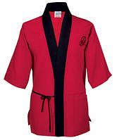 Куртка М поварская японский стиль, коттон (цвет черн, красн-черн, размер XS-2XL)