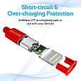 Кабель Promate linkMate-LTF Lightning-USB 1.2 м Red, фото 3