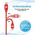 Кабель Promate linkMate-LTF Lightning-USB 1.2 м Red, фото 5