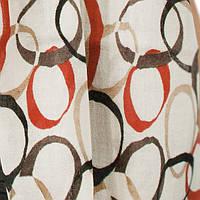 Женский шерстяной шарф с кругами