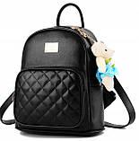 Модный женский городской рюкзак + брелок в Подарок! Бесплатная доставка 01035, фото 2