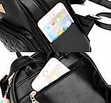 Модный женский городской рюкзак + брелок в Подарок! Бесплатная доставка 01035, фото 6