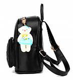 Модный женский городской рюкзак + брелок в Подарок! Бесплатная доставка 01035, фото 9