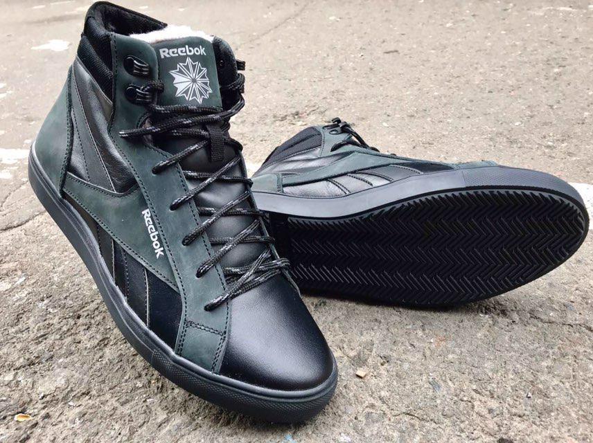 Мужские зимние ботинки Reebok натуральная кожа