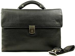 Портфель из кожи для ноутбука Tofionno 02880-1 черный