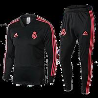Тренировочный костюм Реал Мадрид 2018-2019 (VTK0045), Взрослая, Мужская, Черный, Реал Мадрид, M