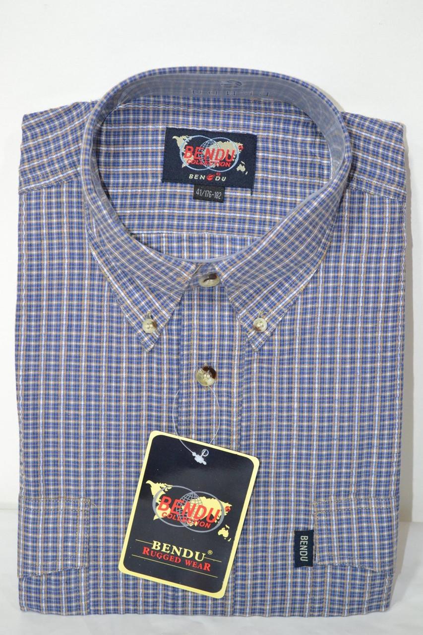 Мужская рубашка BENDU (100% хлопок) (размеры 38,39,40,41,46)