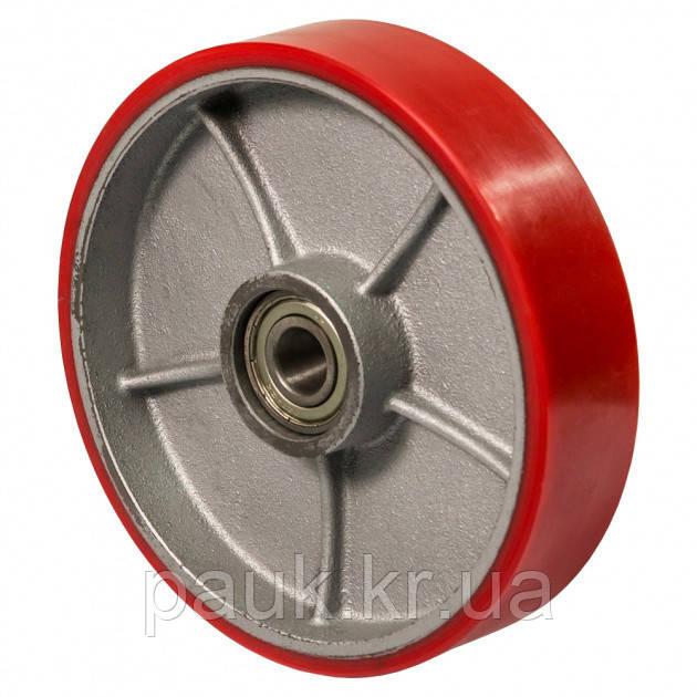 Колесо 55-127х50-B(серія 55) Ø 125мм, колесо для гідравлічних візків та рокл з кульковим підшипником