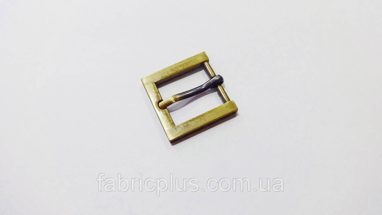 Пряжка застежка 20 мм металл, антик