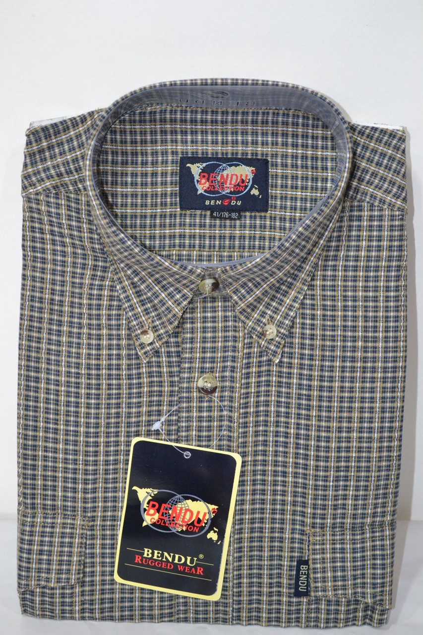 Мужская рубашка BENDU (100% хлопок) (размеры 38,39,40,41)