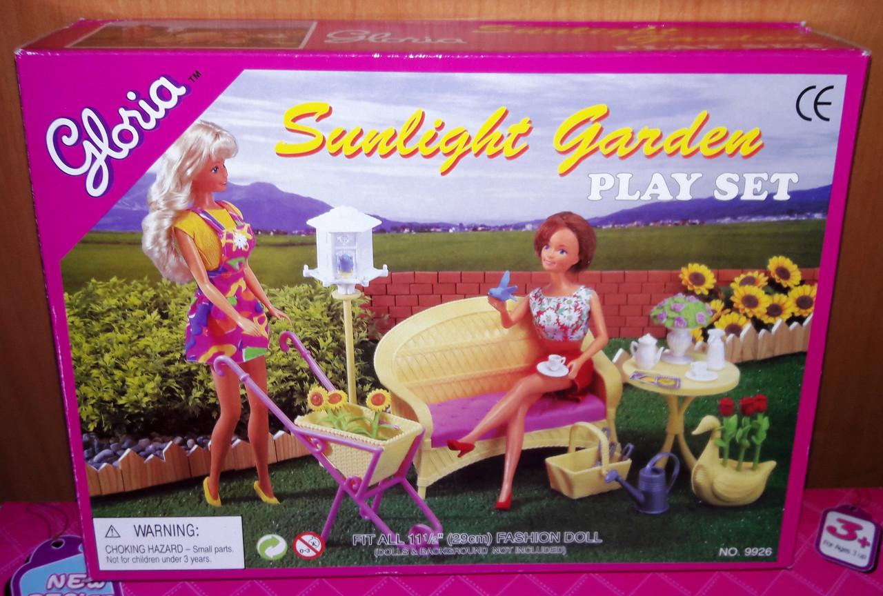 Кукольная мебель Глория Gloria 9926 Летний отдых в саду