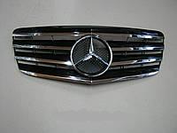 Решетка радиатора Mercedes E-Сlass W211 (2007-2009), фото 1