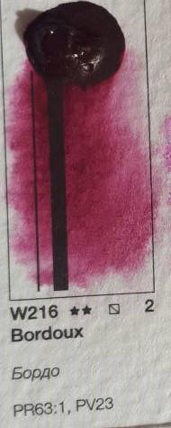 Краска акварельная Pinax 15мл Бордо Ser.2 - W216