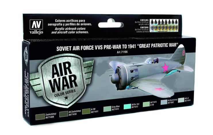 "НАБОР ИЗ 8 КРАСОК: ""SOVIET AIR FORCE VVS PRE-WAR TO 1941"". VALLEJO 71196  , фото 2"
