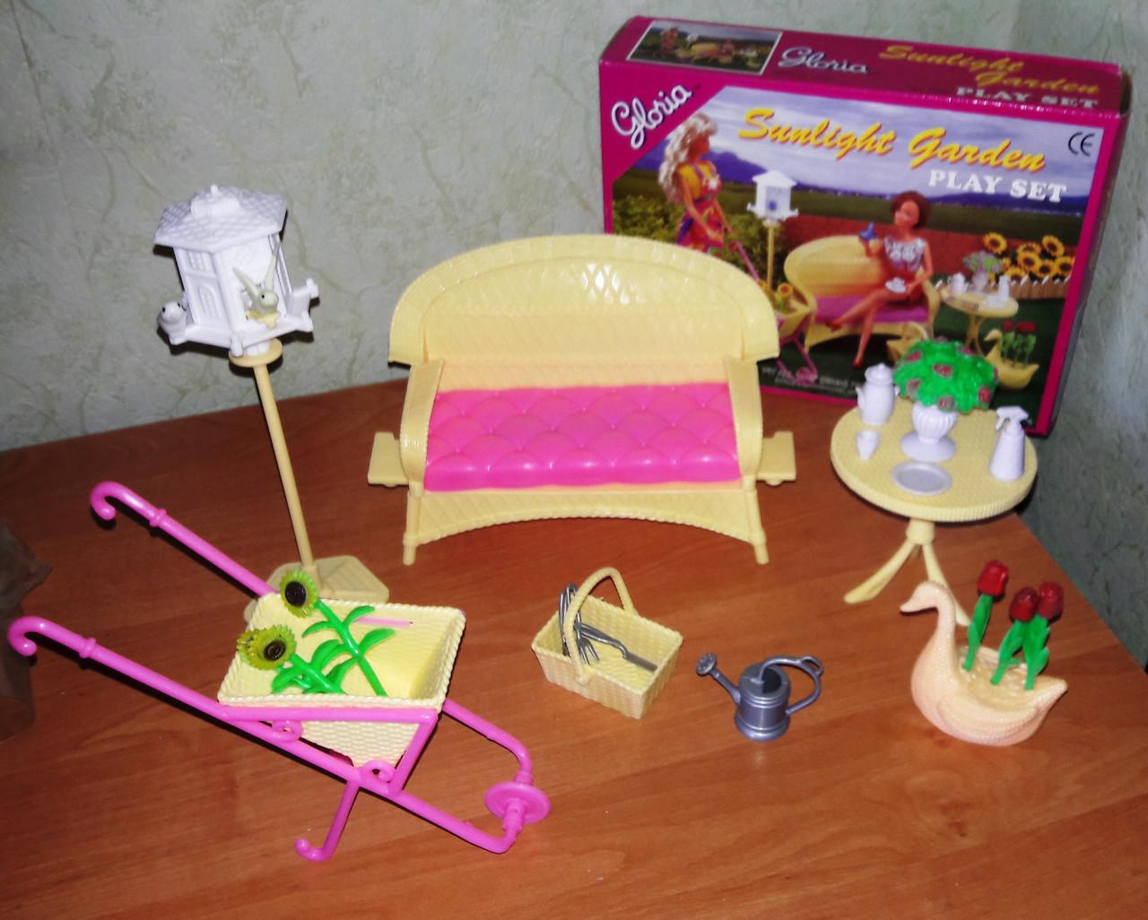 Кукольная мебель Глория Gloria 9926 Мебель для девочек в саду