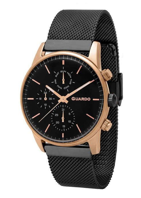 Чоловічі наручні годинники Guardo P12009(m1) RgBB
