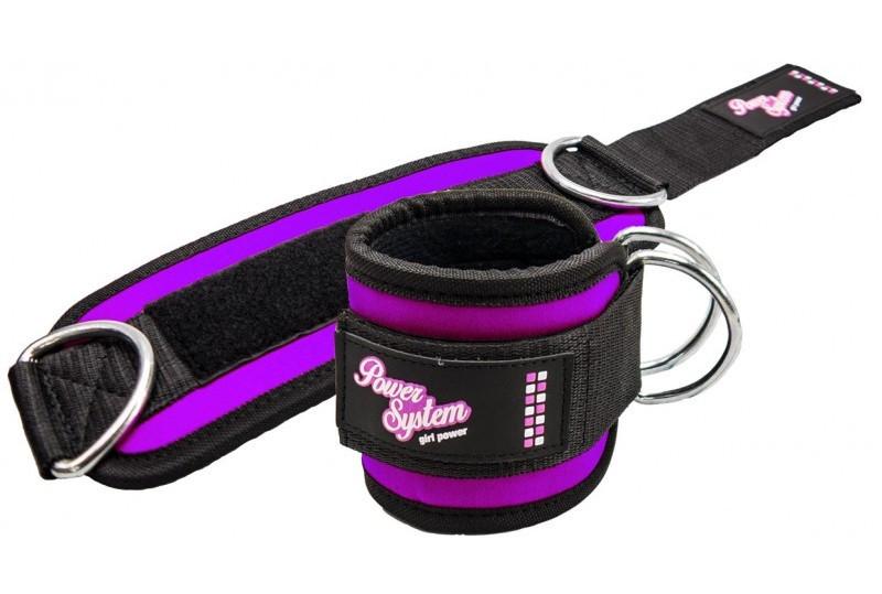 Манжеты на лодыжку Power System Ankle Strap Gym Babe PS-3450 Purple