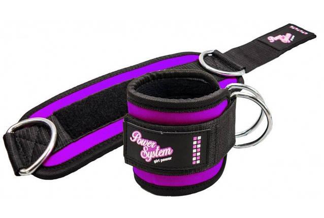 Манжеты на лодыжку Power System Ankle Strap Gym Babe PS-3450 Purple, фото 2