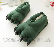 Домашние тапочки кигуруми Лапы Зеленые до 39 размера