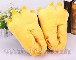 Домашние тапочки кигуруми Лапы Желтые до 39 размера