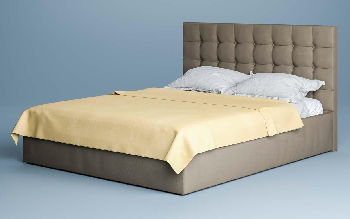 Кровать Бруклин 160х200 см. (изножье с узором изголовья) ЛунаМебель