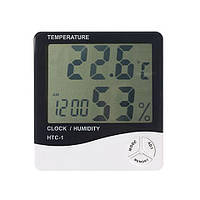 Годинник термометр, гігрометр будильник LCD, A152