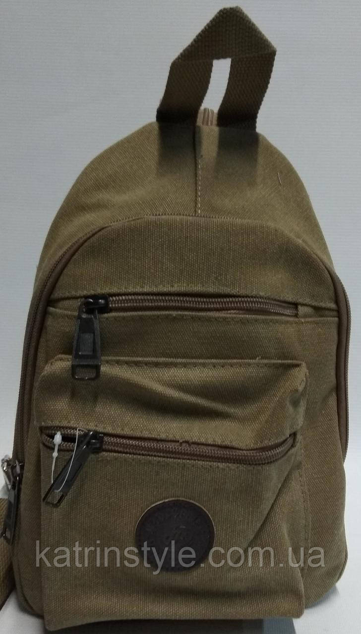 Мужская брезентовая  сумка слинг