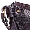 Женская кожаная сумка-клатч LASKARA (ЛАСКАРА) LK-DM232-black-croco, фото 8