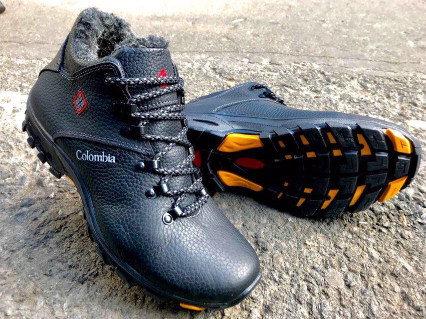 Мужские зимние ботинки Columbia натуральная кожа