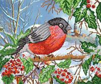Схема для вышивки бисером Зимняя птица РКП-263