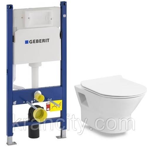 Комплект: унитаз подвесной VOLLE FIESTA RIM 13-77-034 + Geberit Duofix 458.126.00.1