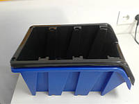 Ящик пластиковый 718 черный с размерами ДхШхВ 350х230хН180 мм