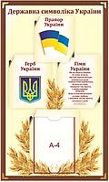 """Стенд """"Державна символіка України"""" для кабінету математики"""