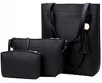 Модная женская сумка JingPin 3 в 1 (сумка + клатч + кошелёк) 01037