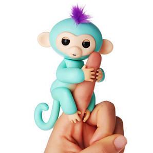 Интерактивная обезьянка Finger lings Бирюзовая