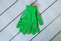Перчатки для сенсорного телефона зеленые