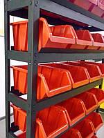 Стеллаж 718 Н1800х1000х300мм и 24 шт цветных ящика 350х230хН180 мм