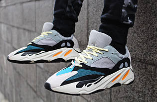 "Кроссовки мужские Adidas Yeezy Boost 700 ""Solid Grey/Chalk White/Core Black"" / B75571 (Реплика)"