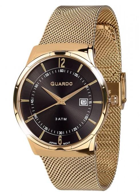 Чоловічі наручні годинники Guardo P12016(m) GB