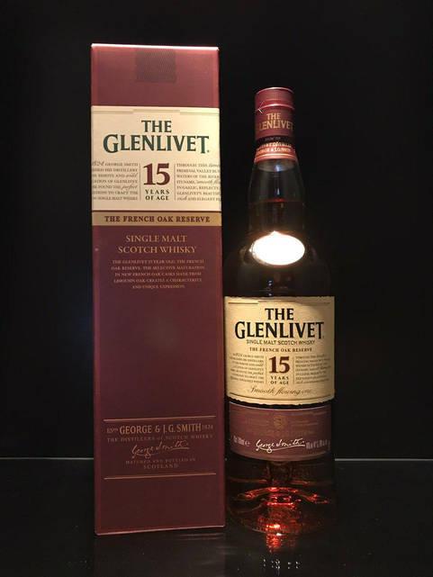 Виски Glenlivet 15 y.o. The French Oak Reserve Гленливет 0.7л
