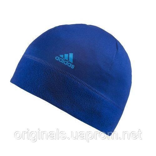 Шапка Adidas флисовая Climawarm синяя AB0419