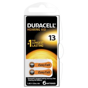 Батарейка Duracell HA 13 уп. 6 шт.