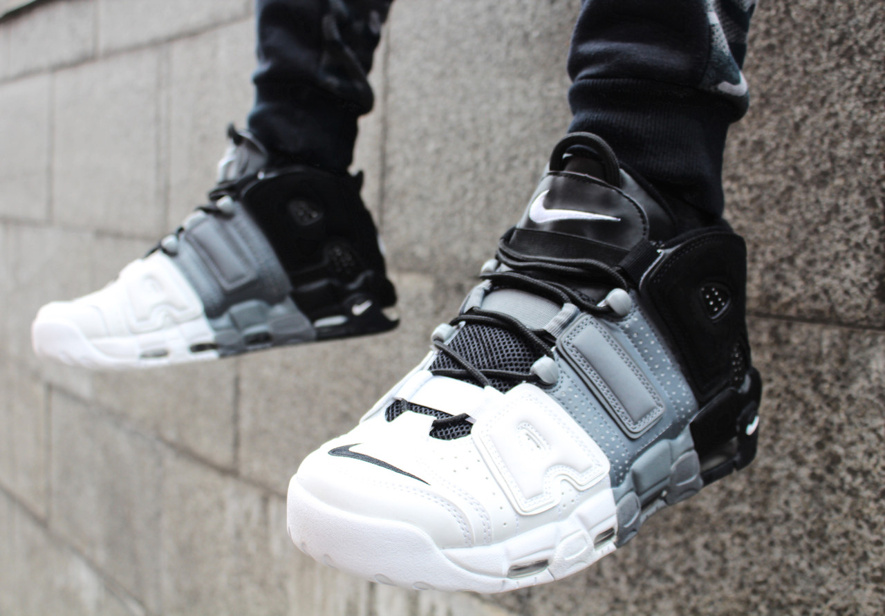 sneakers for cheap 46a55 58770 Кроссовки мужские Nike Air More Uptempo 96 (Black  Grey  White)