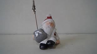 Новорічна візитниця Дід Мороз керамічна маленька