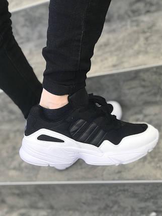 Мужские кроссовки Adidas черно-белые топ реплика, фото 2