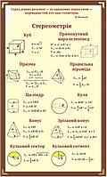 """Стенд """"Стереометрія"""" для кабінету математики"""