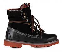 Оригинальные мужские ботинки Timberland Bandits Black (Тимберленд) - черные