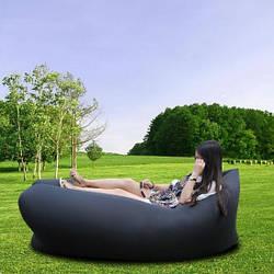Надувное кресло-лежак черное