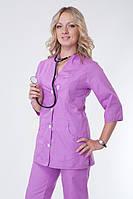 Сиреневый медицинский костюм 2243 с карманами батист