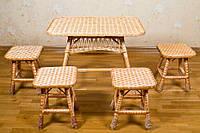 Набор мебели из лозы для кухни из ЭКО лозы от производителя